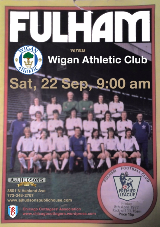 Fulham FC v. Wigan Athletic- Sat, September 22 @ 9:00 am