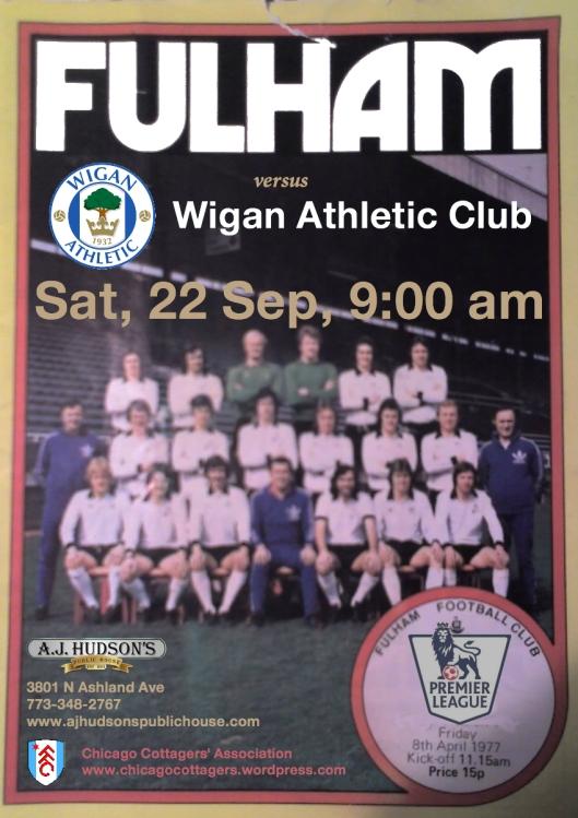 Fulham FC v. Wigan Athletic- Sat, September 22 @ 9:00 am